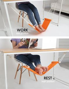 A foot hammock…. Nifty!.. but wow, how do people come up with this stuff haha?!