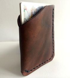Leather Sleeve Wallet by Draeger Handcraft $28