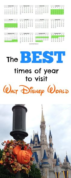 The best times of year to visit Disney World! Most recommended dates based on cost, crowds and weather.
