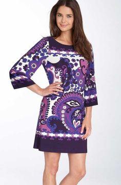 Emilio Pucci Asymmetric Print Cotton Silk-Blend Dress sale online,free shipping.