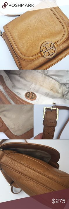 Tory Burch Amanda round cross body Some light wear, see photos. But really good used condition. Comes with dust bag. Tory Burch Bags Crossbody Bags