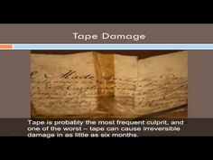 The Care and Handling of Family Papers, Photographs, and Essential Records - A series of short (7 - 12 minute) videos