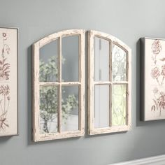Gracie Oaks 2 Piece Pierpont Panels Mirror Set Size 25 5