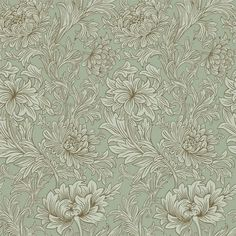 Chrysanthemum Toile Eggshell/Gold 210418