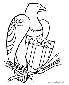 Patriotic Flag - 4th of July coloring pages
