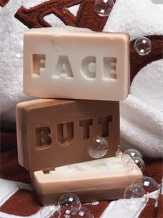 Although soap is meant to be the cleanser, how are you supposed to keep IT clean when your sweaty, deodorant-shunning roommate gets ahold of a bar in the shower? ButtFace soap at least establishes some boundaries and instructions for sanitary use. Wh