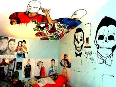 I I had a twenty one pilots room like this I would die.  Tyler Joseph Josh Dun