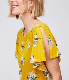 Shop LOFT for stylish women's clothing. You'll love our irresistible Bouquet Split Flutter Sleeve Top - shop LOFT.com today!