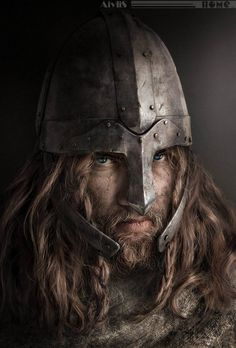 A Viking we will go . a Viking we will go . Fantasy Warrior, Fantasy Male, Fantasy Rpg, Medieval Fantasy, Viking Warrior, Viking Age, Warrior Helmet, Inspiration Drawing, Character Inspiration