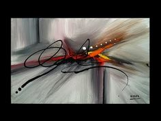 """Abstract Painting On Canvas / Demostration / """"Abstraction By Roxer Vidal"""" - YouTube"""