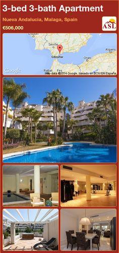 3-bed 3-bath Apartment in Nueva Andalucia, Malaga, Spain ►€506,000 #PropertyForSaleInSpain