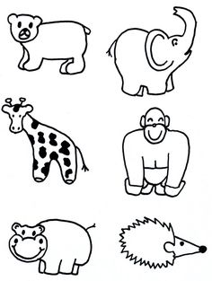 Animal Shapes To Cut Out - AZ Coloring Pages