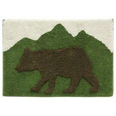 Lodge Time Bear Bath Rug by Bacova Guild found on @kohls. #bacova #giftguide #kohls #homedecor #bathroom