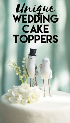 Unique and Sweet Wedding Cake Toppers
