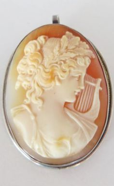 ⊙ Cameo Cupidity ⊙  Victorian Maiden with Lyre