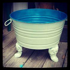 Gunshot Hattie's wash tub repurposed