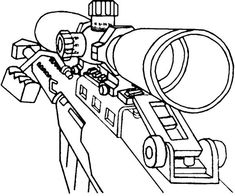 Black Ops Ray Gun Coloring Pages