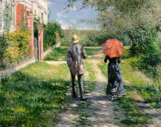 Gustave Caillebotte-The Path Uphill