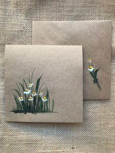 Check our beautiful collection of hand painted greeting cards with flowers! Painted with high quality watercolors by an artist from Canada. Perfect as a greeting card for Birthday, Mother's Day, Congr Watercolor Cards, Watercolor Paintings, Watercolor Birthday Cards, Watercolour, Art Postal, Envelope Art, Envelope Lettering, Paint Cards, Greeting Cards Handmade