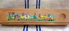 Vintage  Pre 1989  Wood Pencil Case  West Germany by angelinabella, $27.00