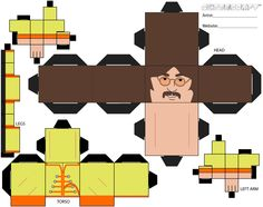 The Beatles - John Lennon - papercraft printable. Fun to make! #printable #thebeatles #papercraft