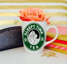 Aurora-Sleepy Time Tea-VInyl Decal-Disney-Starbucks-Princess by KGDESIGNS16 on Etsy