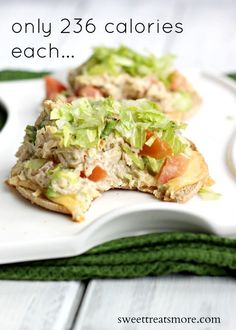 Skinny Avocado & Tomato Tuna Melts