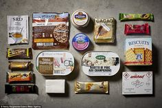 A French army ration pack in its entirety - one of several from around the world that the ...