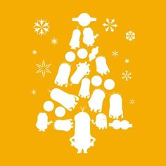 Minions Christmas Tree Silhouette White