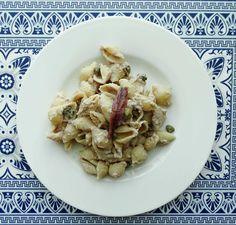 Orecchiette al limone, thon et câpres Risotto, Ethnic Recipes, Tuna, Recipes, Kitchens