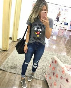 look para faculdade 2019 Jean Outfits, Fall Outfits, Summer Outfits, Casual Outfits, Cute Outfits, Fashion Outfits, Womens Fashion, Outfit Jeans, Casual Chic