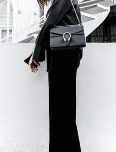 3e23851b4b5e minimal all black outfit street style blogger modern legacy pyjama dressing  Gucci dionysus leather bag (