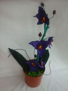 Orhidee, by Polimer, 35 Lei Planter Pots, Handmade, Hand Made, Handarbeit