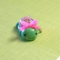 cUstOm oRdeR Green Turtle Polymer Clay Keychain Charm Doll Animal Figurine Miniature ooak Gift Cute Kawaii by MyWillies on Etsy