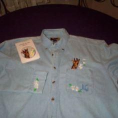 Denim shirt for a dear friend who loves giraffes