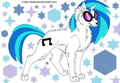 Vinyl as a...wolf?! She doesn't look rights too muscular.
