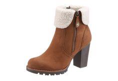 #TOM #TAILOR #Damen #Stiefel #braun - Stiefel aus Leder von Tom Tailor.