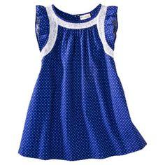 Genuine Kids from OshKosh™ Infant Toddler Girls Polka Dot Sleeveless Dress - Blue.
