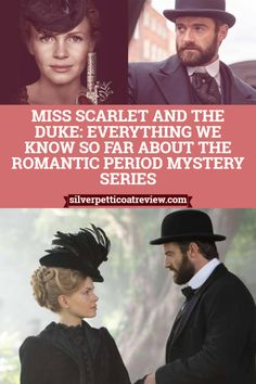 Dec 2019 - Miss Fisher fans: a new romantic period mystery series is coming soon, and it looks epic. Miss Scarlet and the Duke premieres on Masterpiece in Period Drama Movies, British Period Dramas, Tv Series To Watch, Movies To Watch, Movie List, Movie Tv, British Mystery Series, Detective, Books