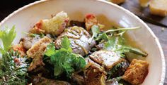 Chicken liver salad by Hugh Fearnley-Whittingstall