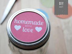 Printable labels for mason jar tops