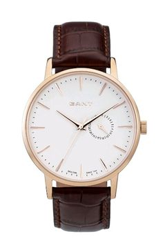 Gant Watch Brown Gold Leather
