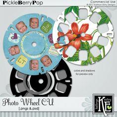 Photo Wheel CU Digital Scrapbooking Supplies by Kathryn Estry @ PickleberryPop $4.99
