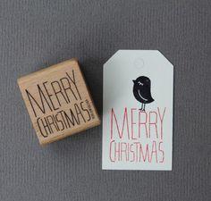 Stempel Merry Christmas von perlenfischer auf DaWanda.com