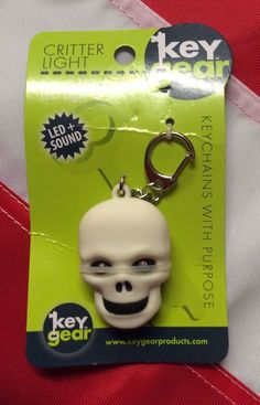 SKULL key chain with light and sound GIFT emergency back to school gear KEYGEAR #Keygear #Critterlight
