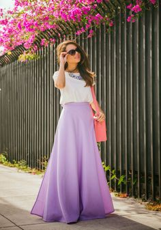 Lilac Skirt - Nany's Kloset