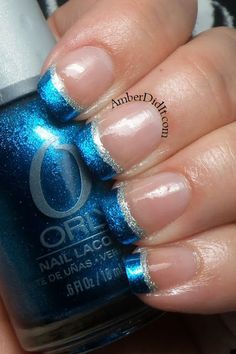 Amber did it!: Teal French Manicure
