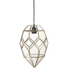 Lampa Emerald, tak 33 cm, mässing - PR Home