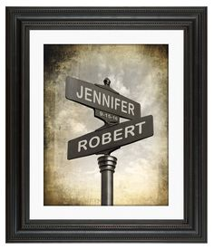 Check out the product reviews around Lovers Crossroads - Personalized Wedding Anniversary UNFRAMED Print- Gift, Keepsake Poster includes Names and the Special Date - Perfect Gift for the Bridal Shower.