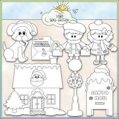 Christmas Village Letters to Santa - NE Kristi W. Digi Stamps